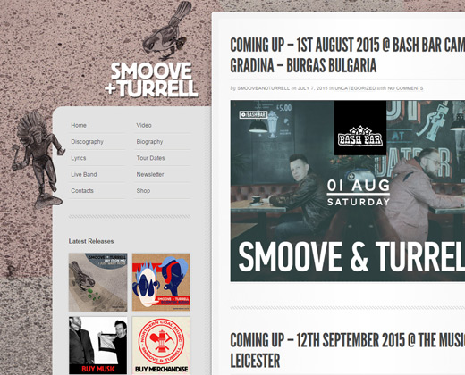 smoove and turrell band website