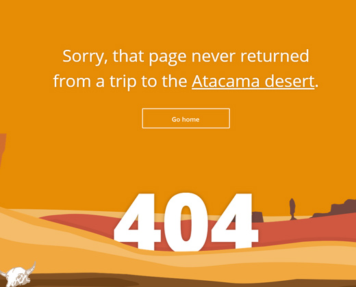 trip o matic planner 404 page design