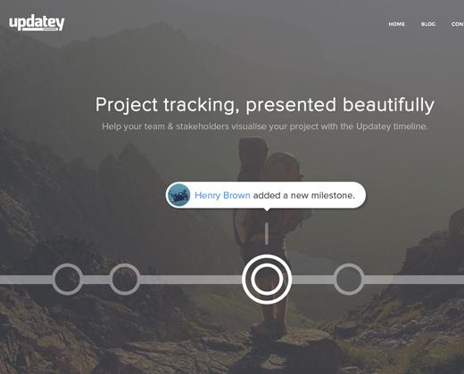 grey website homepage landing design updatey