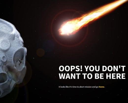 cool appse website design 404 error page