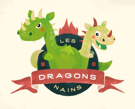 les dragons nains logo illustration
