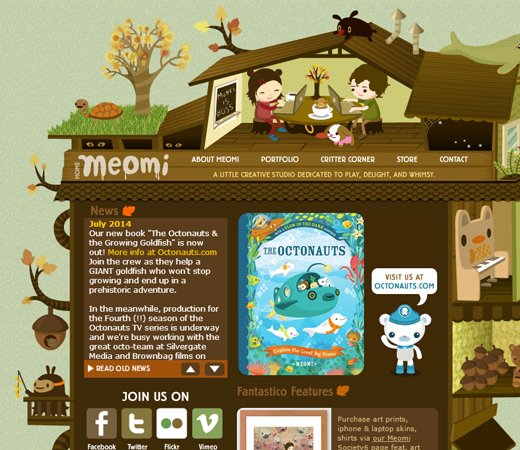 meomi cloud house green natural website layout