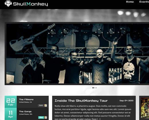 rock band music template wordpress theme