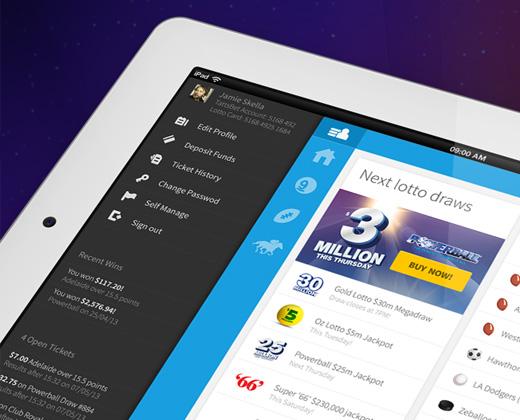 flyout menu ipad app ui
