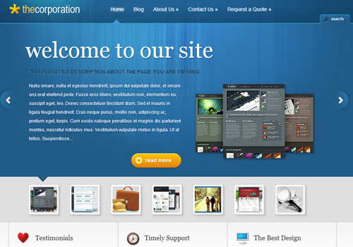 wordpress premium theme design the corporation
