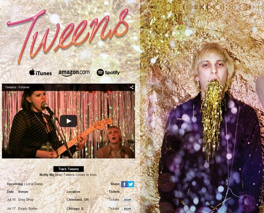 tweens band website grunge