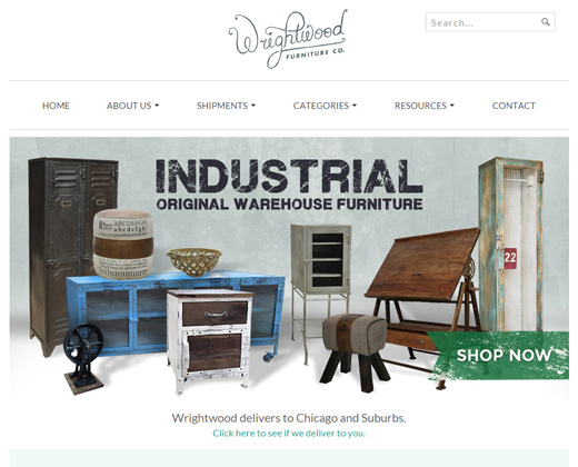 wrightwood furniture company website shopify