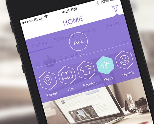yj homeview iphone flat app ui