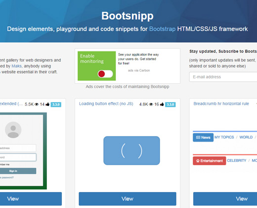 bootsnipp bootstrap snippets library