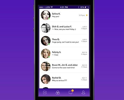 chat conversations app ui