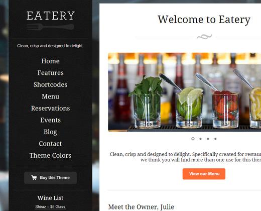eatery responsive restaurant wordpress theme