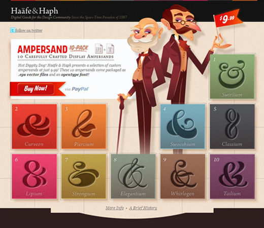haafe haph ampersand custom font pack