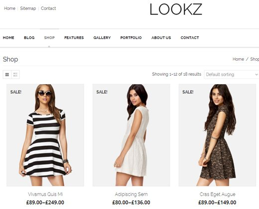 lookz fashion ecommerce theme parallax wordpress