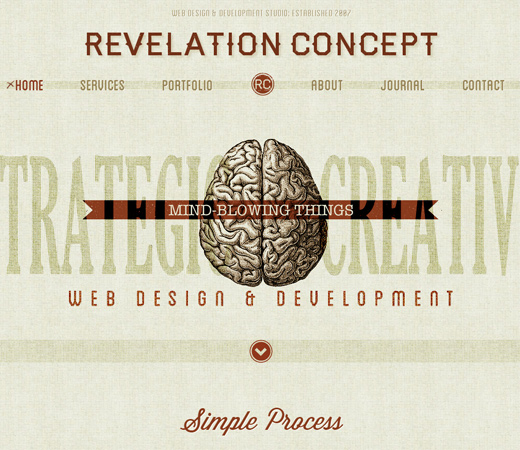 revelation concept retro nostalgia design layout
