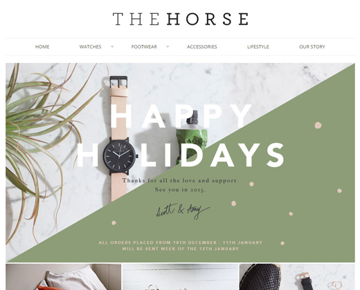 the horse shopify leather website ecommerce