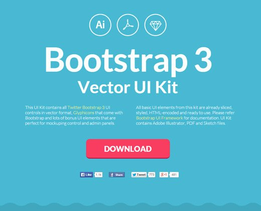 bootstrap3 ui kit open source