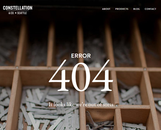 constellation and company website dark 404