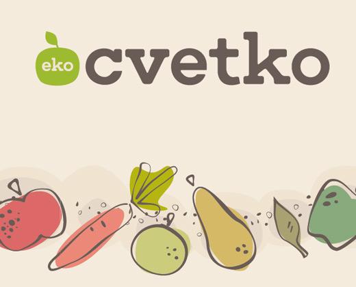 visual identity eko cvetko fruits