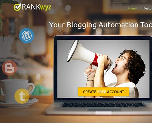 rank wyz homepage parallax layout