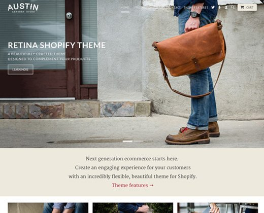 official retina display theme shopify