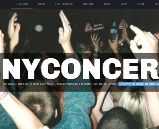 brooklyn indie band responsive music wordpress theme