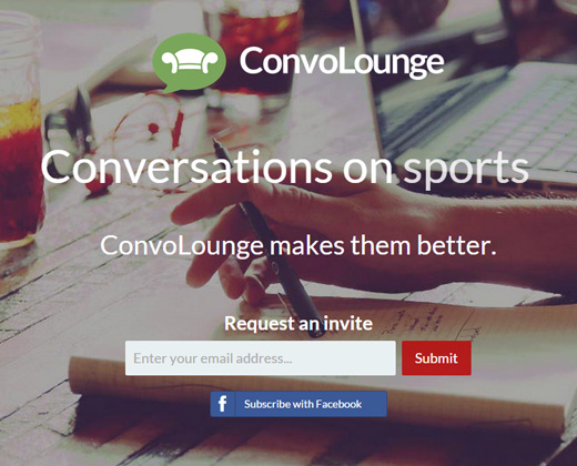 convo lounge website fullscreen design