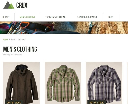 crux modern ecommerce theme wordpress premium design