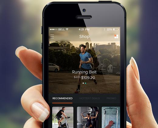 dark ui mobile app
