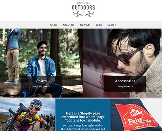 weekend premium official shopify theme outdoors