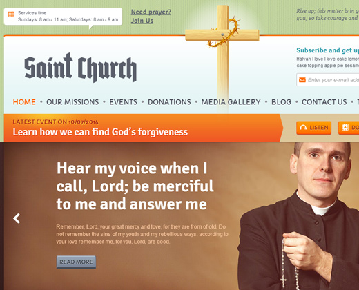 saint church responsive premium theme wordpress