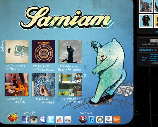 samiam website band homepage