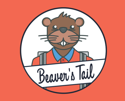beaver tail logo illustration
