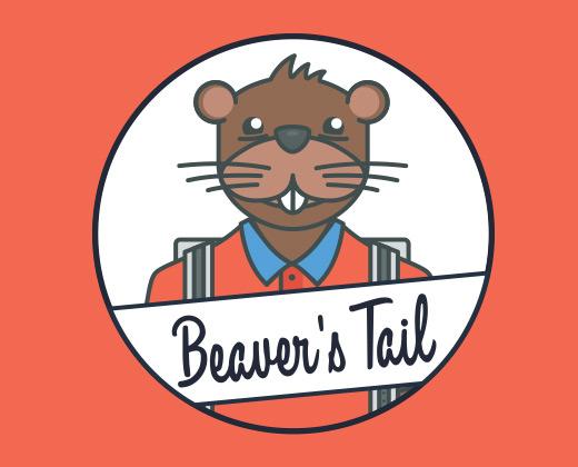 beaver tail logo illustration