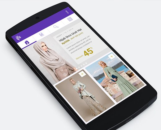 purple fashion catalogue app