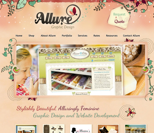hand drawn elegant website layout allure
