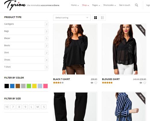tyrion parallax ecommerce theme premium design responsive