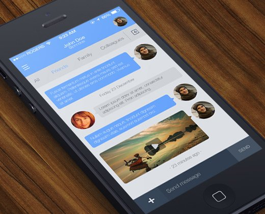 ios messaging concept app ui