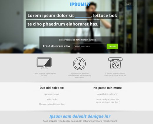 unused landing page simple website