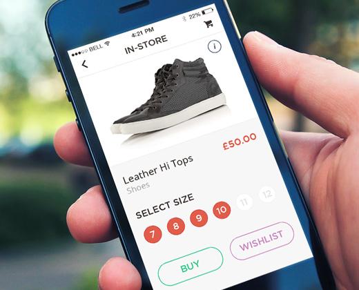 topman shoes instore app