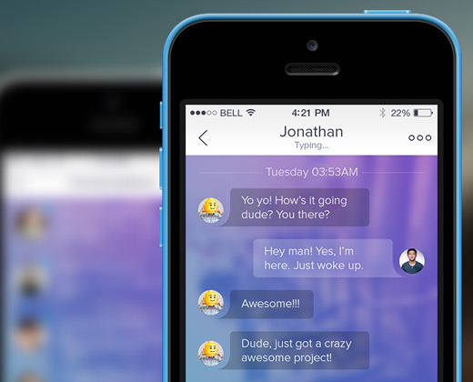 clean ios7 chat application ui