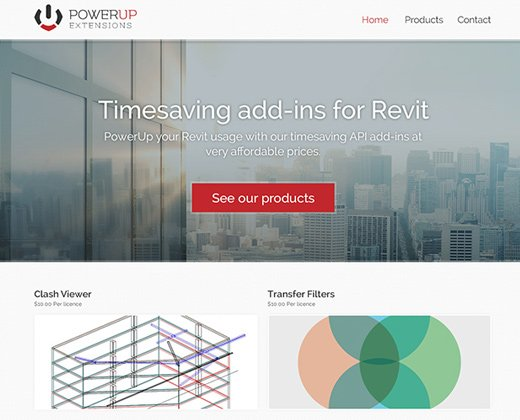 powerup extensions landing page website