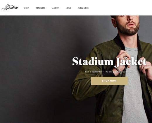 three sixteen shopify website homepage