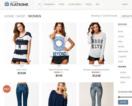 flatsome flat responsive wordpress theme ecommerce