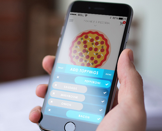 build your own pizza iphone