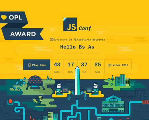 jsconf argentina website homepage layout