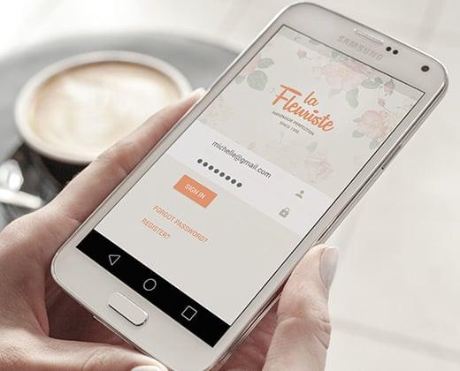 florist app ui android