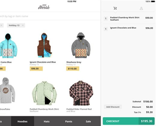 sellwell clothes point of sale tablet app