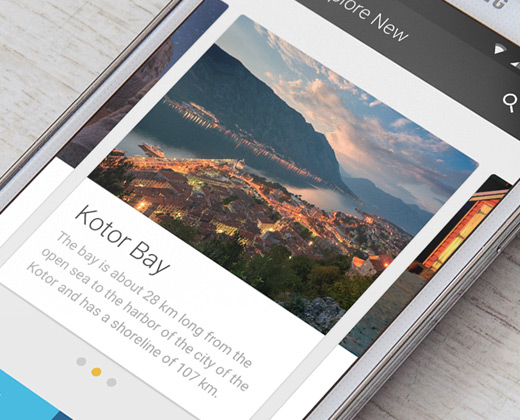 android material travel app ui