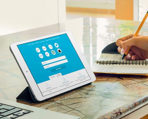 flat tablet ui design