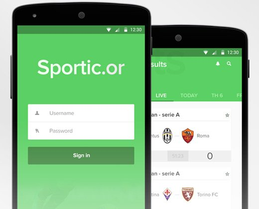 material green ui sporticor app